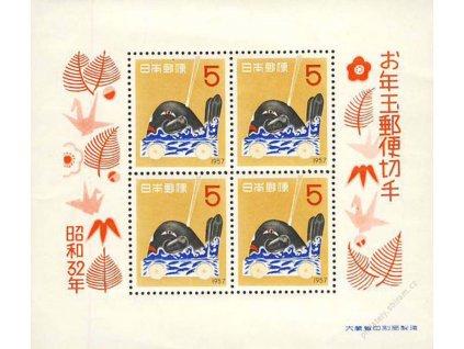 Japonsko, 1956, aršík Nový rok, MiNr.Bl.57, **/*