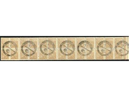 Brasílie, 1956, pás známek 5C, výstavní razítka