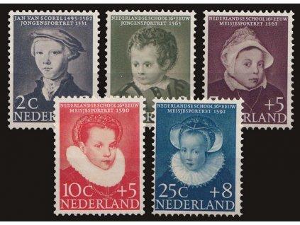 1956, 2-25C série Dětem, MiNr.685-89, **
