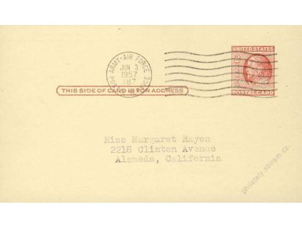 USA, 1957, DR Army Air Force, dopisnice