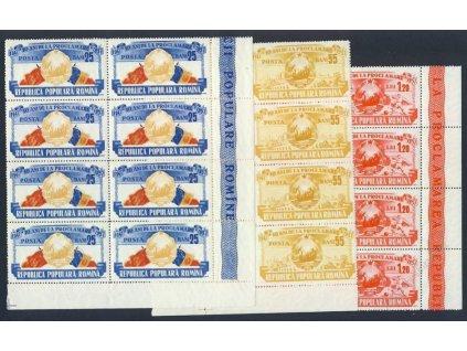 1957, série MiNr.1694-96, 8bloky, **
