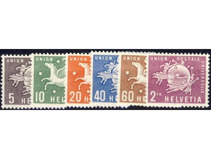1957, UPU, 5C-2Fr série, MiNr.1-6, **