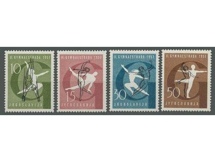 1957, 10-50Din série Sport, MiNr.823-26, **