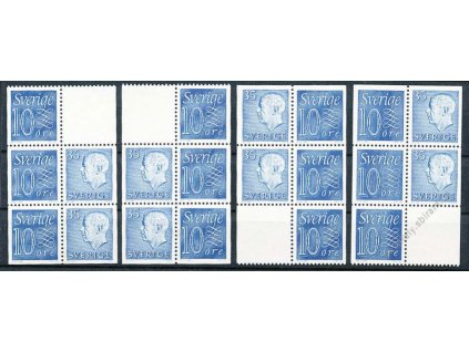 1957/62, MiNr.430,490, ** , 4 varianty soutisku
