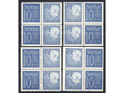 1957/64, 4bloky, sestava zoubkování, **