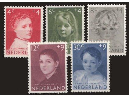 1957, 4-30C série Dětem, MiNr.707-11, **