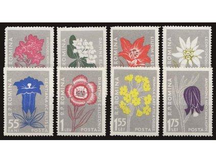 1957, 5B-1.75L série Květiny, MiNr.1647-54, **