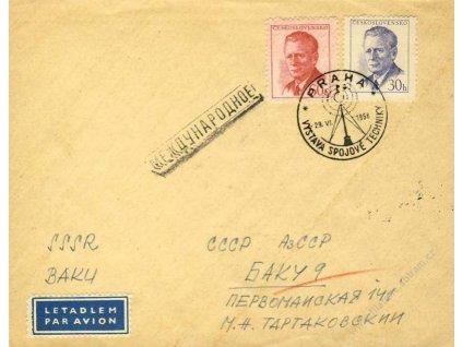 1958, Praha, Výstava spojové techniky, let. dopis