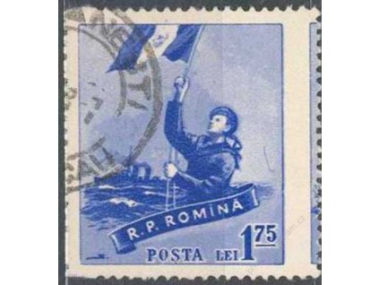 1958, 1,75L Námořník, posun perforace, razítkované