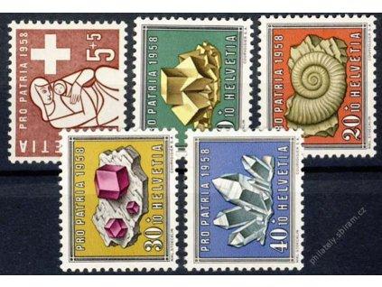 1958, 5-40C série, MiNr.657-61, **