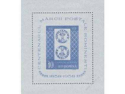 1958, Výstavní aršík, MiNr.Bl.40, **
