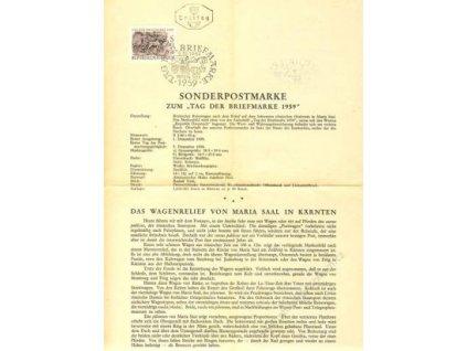 1959, DR Wien, list Sonderpostmarke, razítko