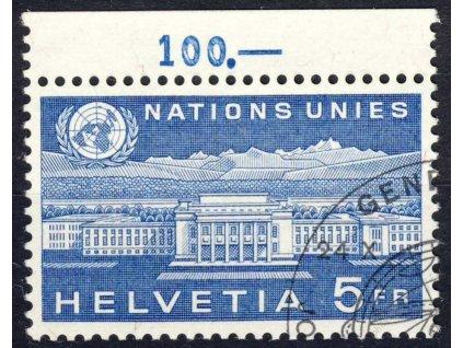 1960, ONU/UNO, 5Fr Palác, MiNr.33, razítkované