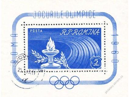 1960, aršík OH Roma, MiNr.Bl.46, razítkované