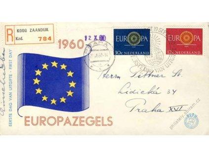 1960, FDC MiNr.753-54, zasláno rekomando do ČSR