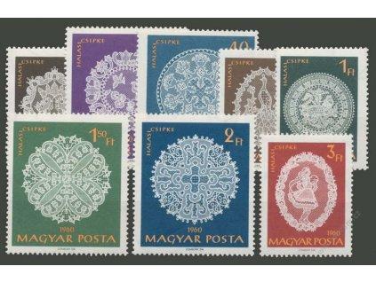 1960, 20f-3Ft série Krajky, MiNr.1860-67A, **
