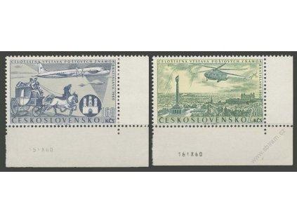 1960, 1.60-2.80Kč letecké, datum tisku, **