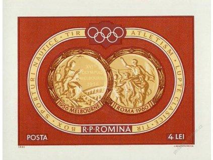 1961, aršík OH Roma 1960, MiNr.Bl.50, (*)