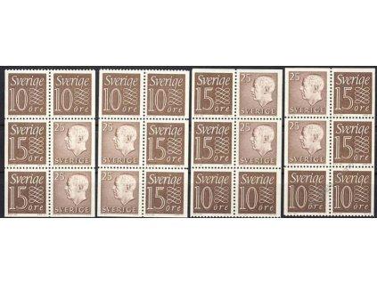 1961/64, 6bloky, sestava zoubkování, **
