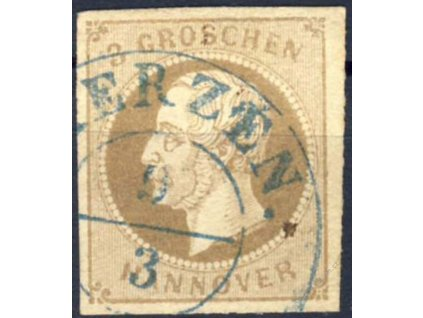 Hannover, 1861, 3Gr Georg, MiNr.19, razítkované