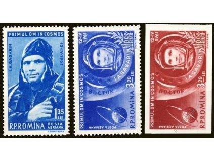 1961, 1.35-3.20L Kosmonautika, MiNr.1962-64, **
