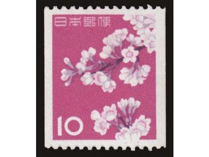 Japonsko, 1961, 10Y svitková, MiNr.758C, **