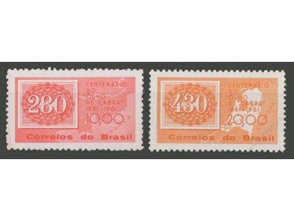 Brasilie, 1961, 10-20Cr série, MiNr.1007-8, **