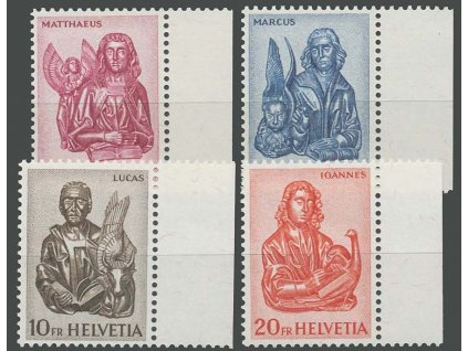 1961, 3-20Fr Evangelisté, MiNr.738-41, **