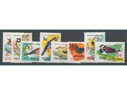 1961, 30f-3Ft série známek Ptáci, MiNr.1808-15A, **