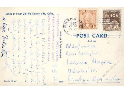 1962, DR Praha, kubánská pohlednice