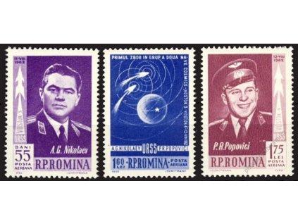 1962, 55B-1.75L série Vostok, MiNr.2096-98, **