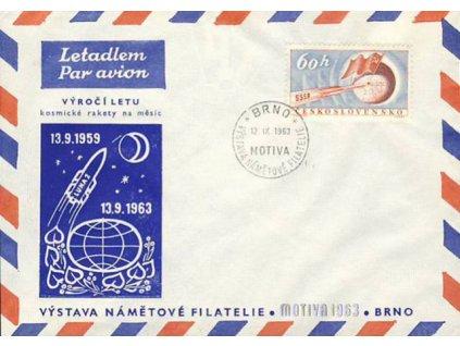 1963, Brno, Výstava námětové filatelie, dopis