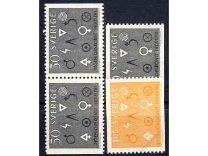 1963, 50Ö-1.05Kr série Symbol, MiNr.506-7, **