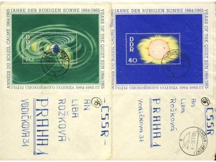 1964/65, DR Dargun, 2 ks dopisů vyfr. aršíky, horší jakost