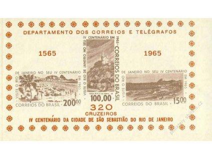Brasilie, 1965, aršík, MiNr.Bl.15, (*) , fald