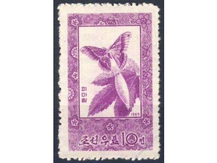 Korea-Nord, 1965, 10Ch Motýl, Mi.50Euro, **
