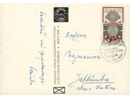 1966, Brno, Výstava známek, pohlednice