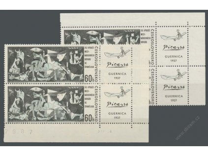 1966, 60h Guernica, rohové kusy s datem tisku, **