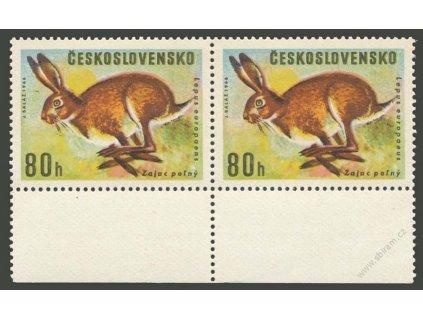 1966, 80h Zajíc, 2páska s ST I+II, Nr.1570, **