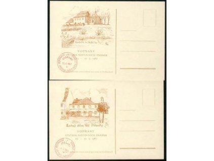 1967, Vodňany, Výstava známek, 2 karty