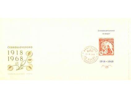 1968, FDC A1721 Výročí Československa