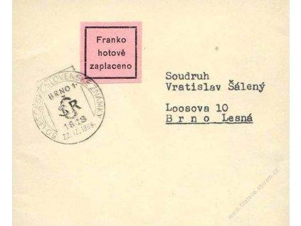 1968, PR Brno 1, 50 let Československé známky