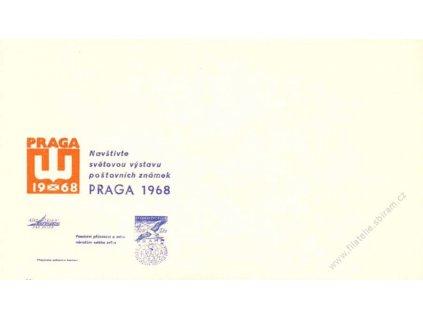 1968, PRAGA, Výstava známek, propagační obálka
