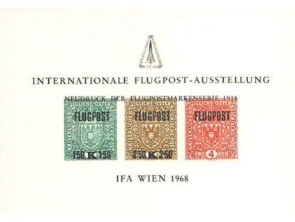 1968, Gedenkblätter, Wien, Flugpost