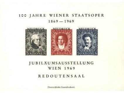 1969, pamětní tisk 100 Jahre Wiener staatsoper