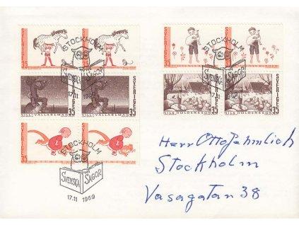 1969, FDC se soutisky MiNr.657-61