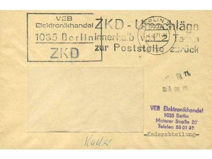 1971, DR Berlin, služební dopis
