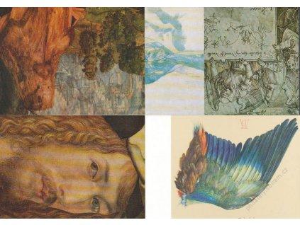 1971, Durer, 5 ks celinových pohlednic, neprošlé