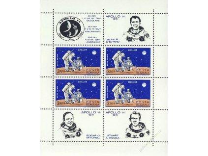 1971, aršík, MiNr.Bl.83, ** , přeloženo v perforaci