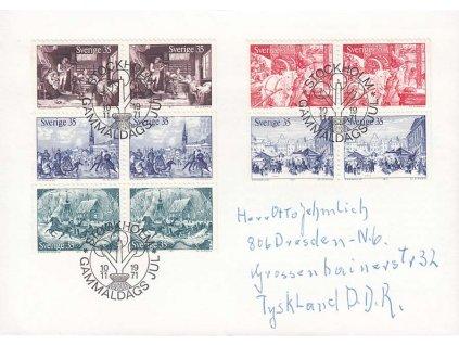 1971, FDC se soutisky MiNr.728-32